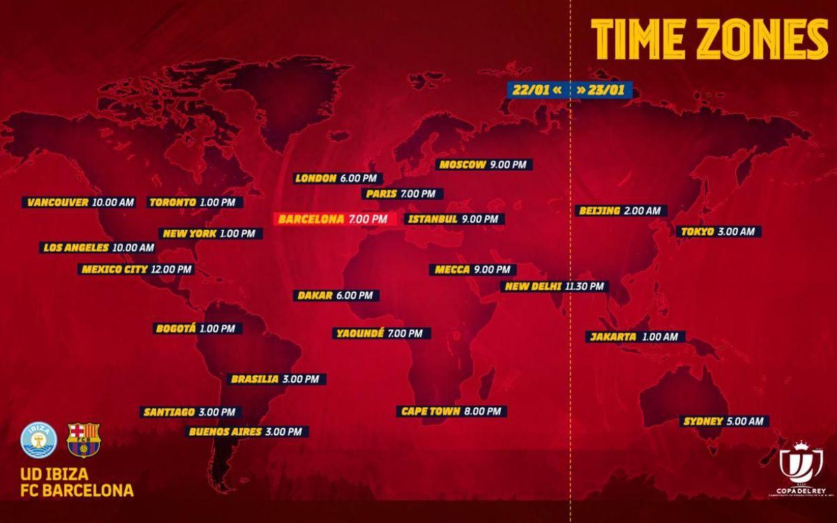 Los horarios internacionales del Ibiza-Barça