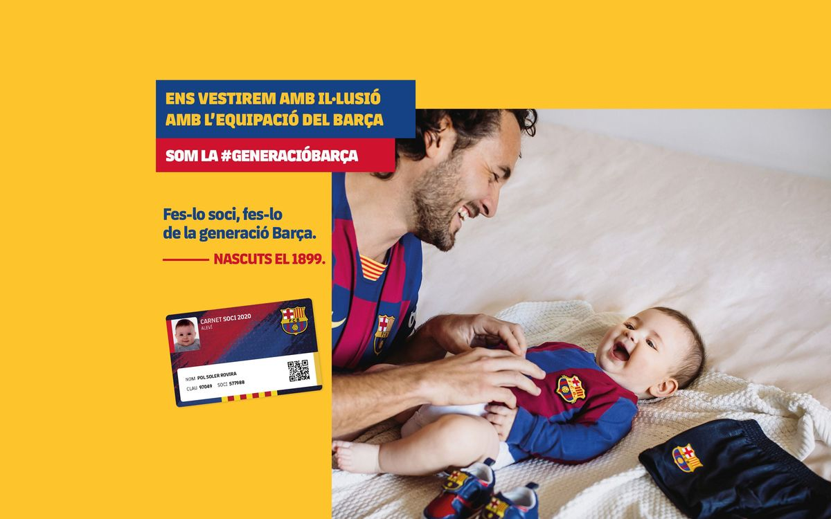 Alta de soci gratuïta per incorporar-se a la nova generació Barça