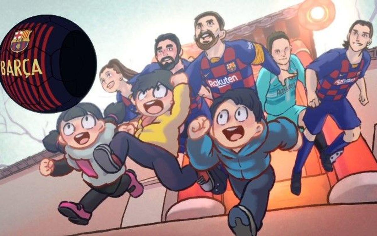 El FC Barcelona celebra el año nuevo chino con un vídeo de animación protagonizado por los futbolistas azulgranas