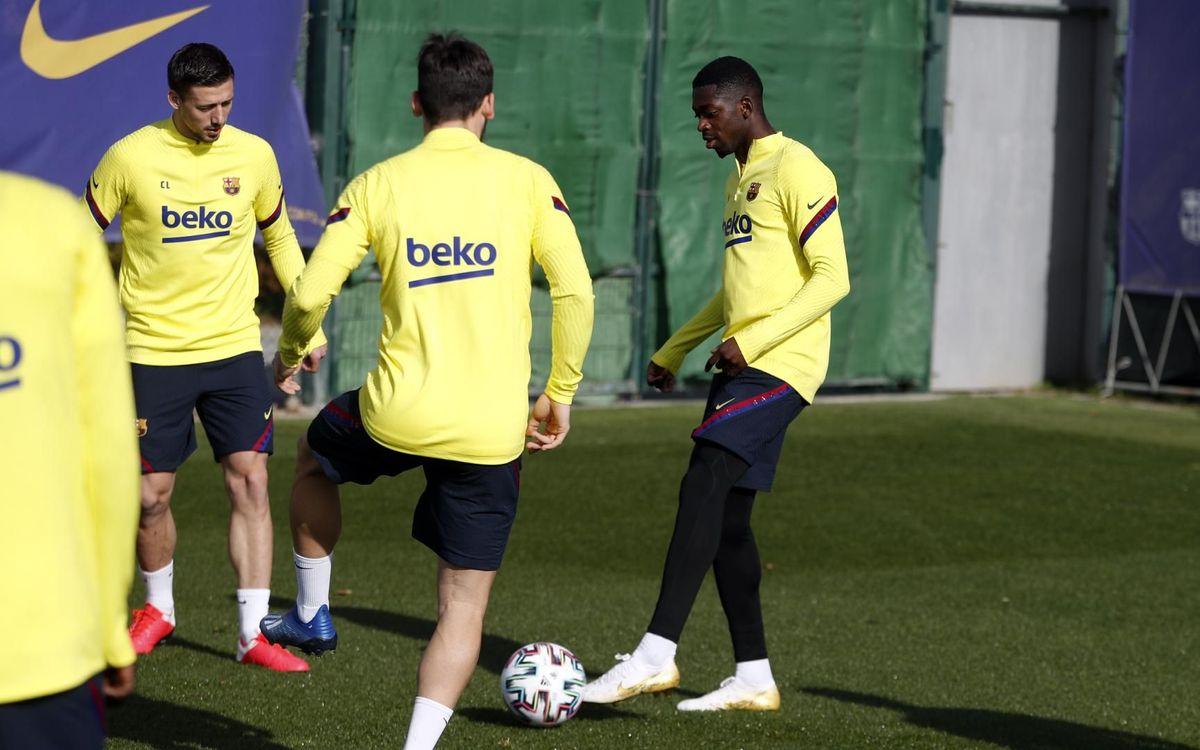 Ousmane Dembélé, novedad en el entrenamiento