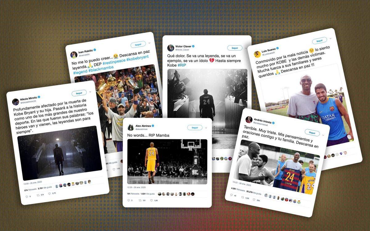 Las reacciones culés a la pérdida de Kobe Bryant