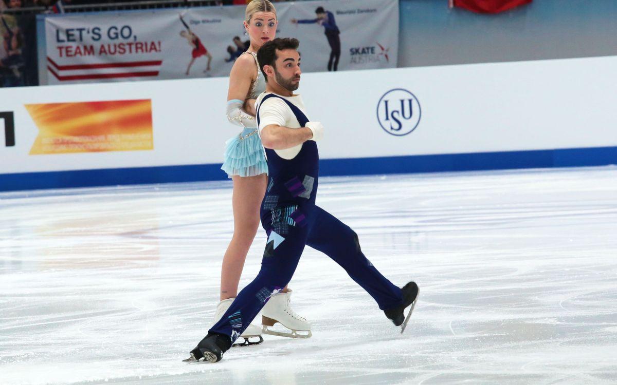 Adrián Díaz i Olivia Smart, vuitens d'Europa