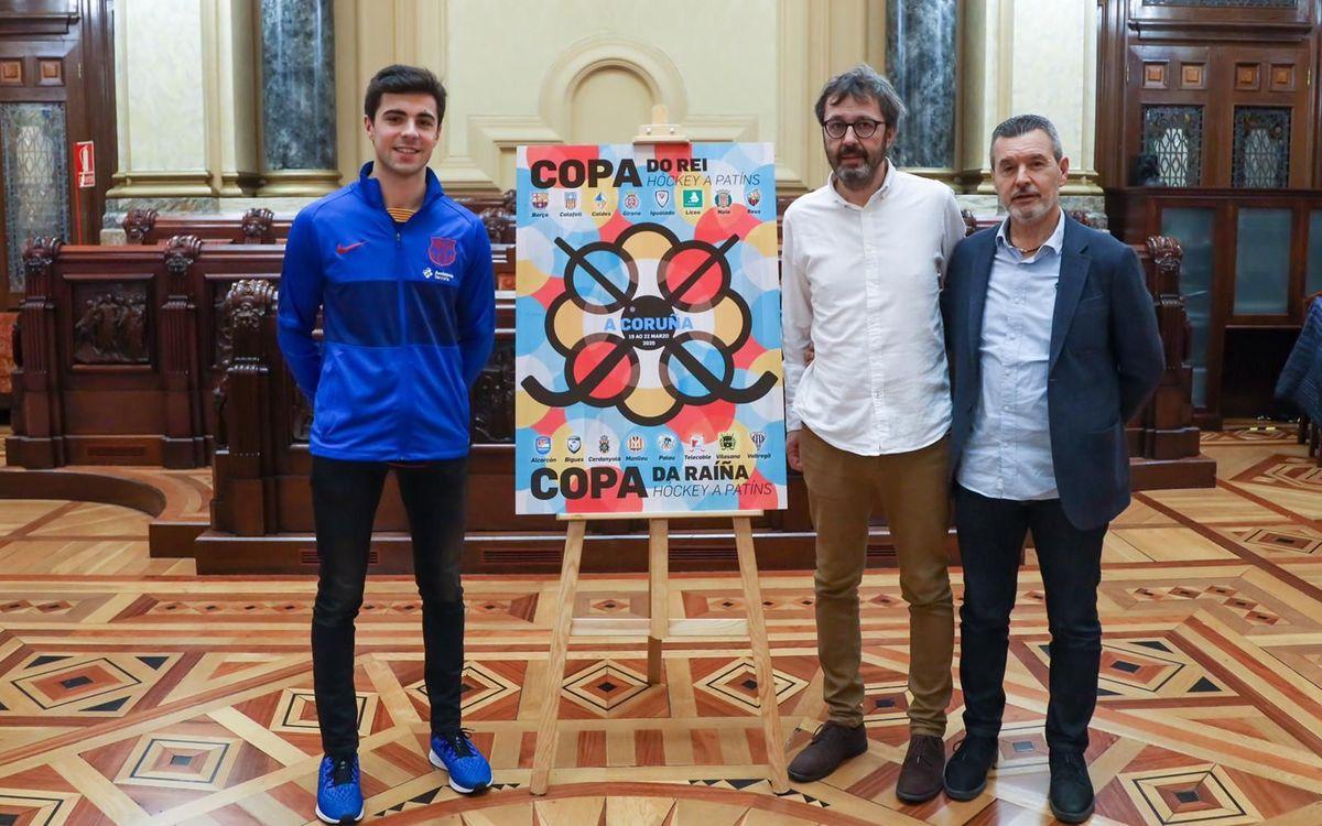 Ignacio Alabart, Edu Castro y Toni Miró el sorteo de la Copa del Rey. Foto: Manu Boutureira