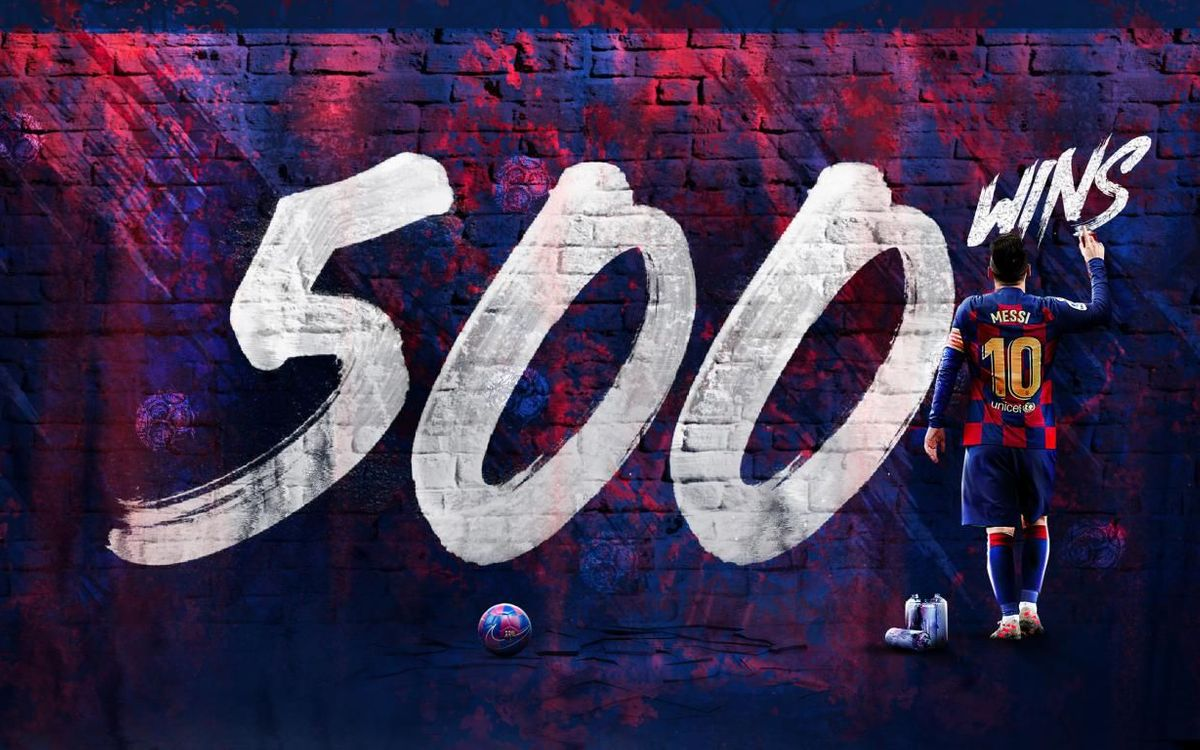 Messi has achieved his 500th victory after 710 games.