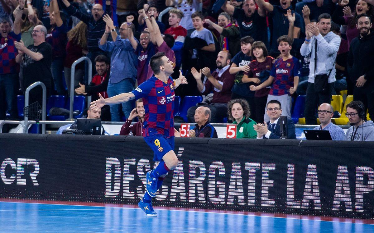 Partido de puertas abiertas en el Palau contra Burela en la Copa del Rey
