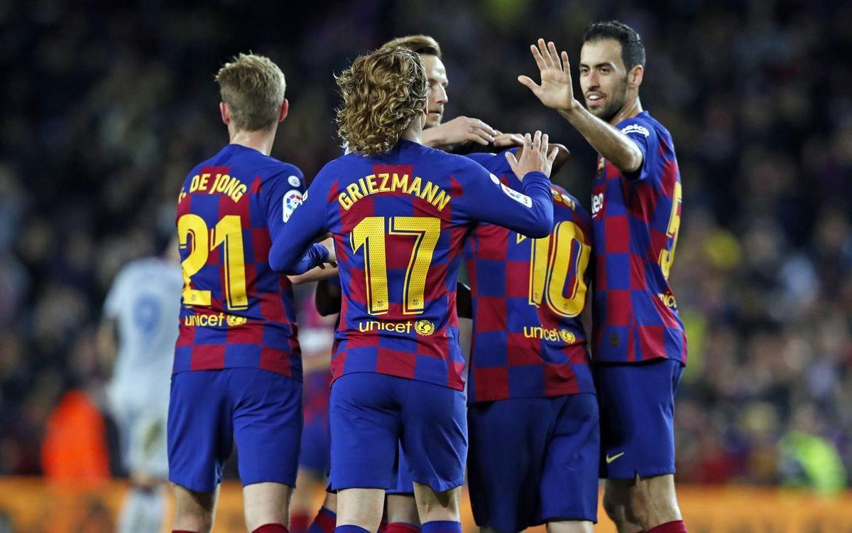 Barça-Getafe: Futbol de quirats al Camp Nou
