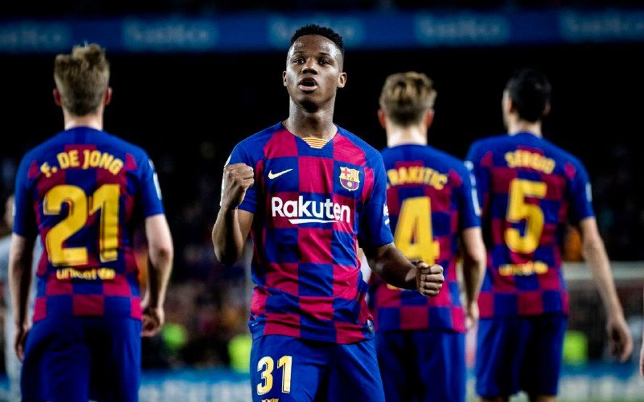The Brace From Ansu Fati Against Levante That Makes Him The Youngest Ever To Score Two Goals In A League Match