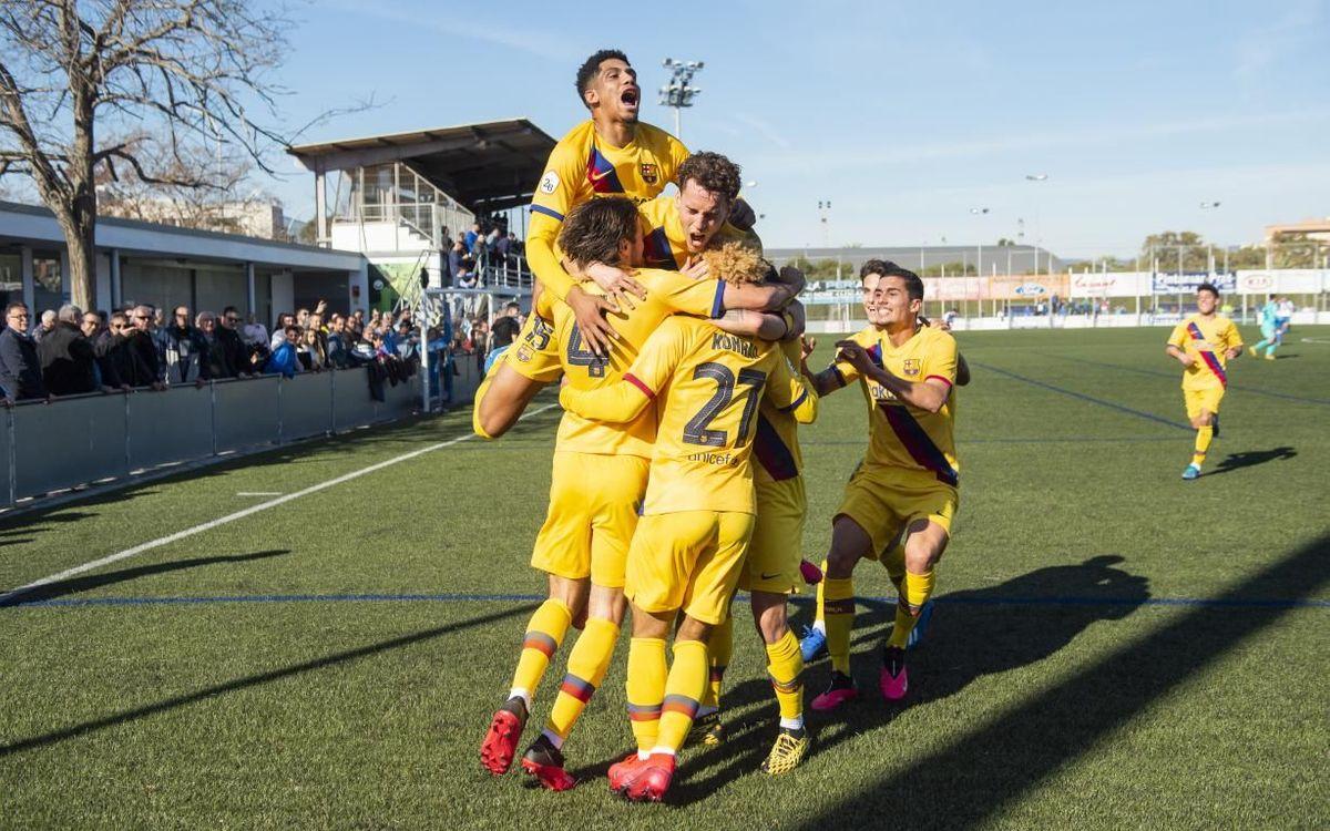 El Prat - Barça B: Tornen a sumar els tres punts a domicili (1-2)