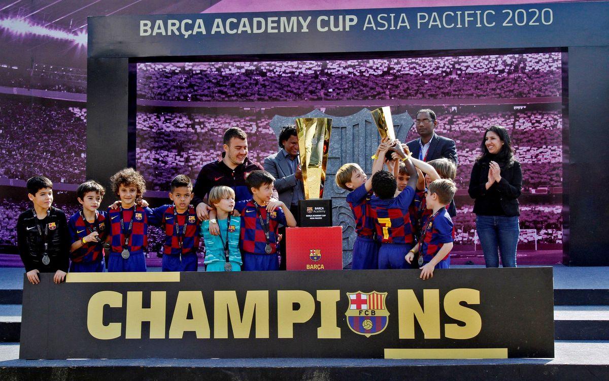 Reparto de títulos en una magnífica segunda edición de la Barça Academy Cup APAC celebrada en Delhi