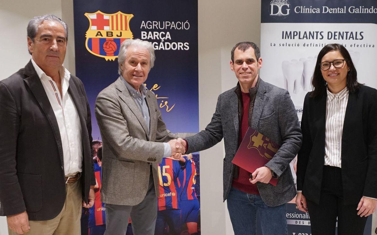 Acord entre la Fundació Barça Veterans i la Clínica Galindo per oferir tractaments bucodentals