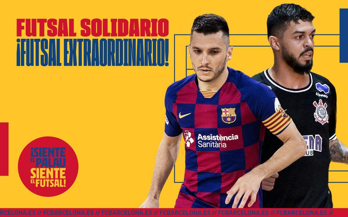 Amistoso solidario Barça-Corinthians: el mejor Futsal del mundo
