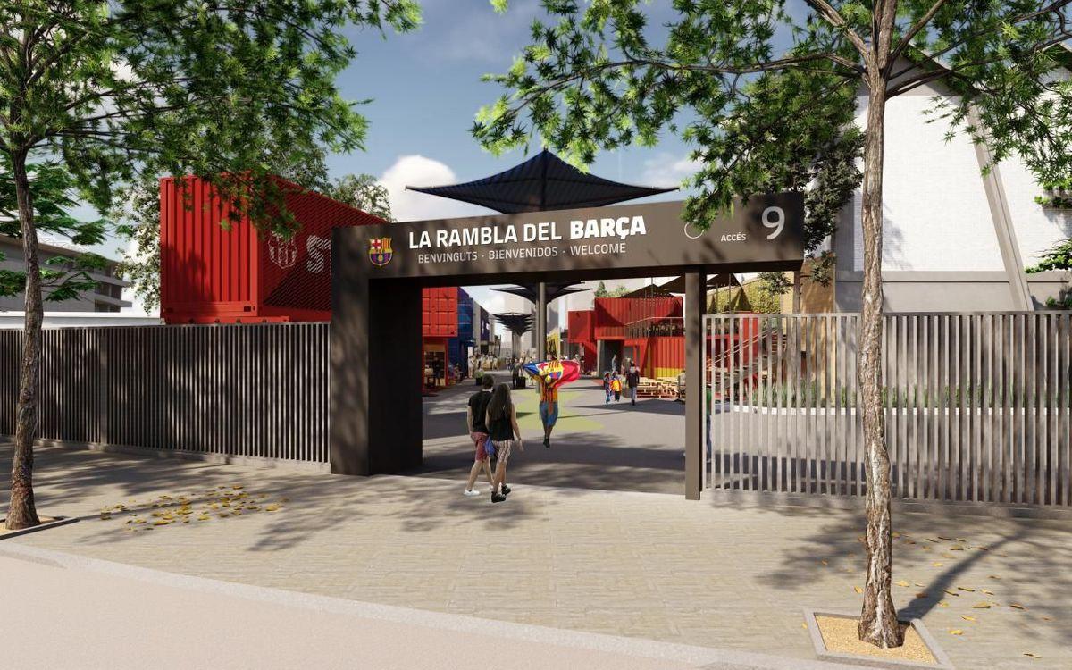 El Barça tindrà la seva pròpia Rambla al Camp Nou