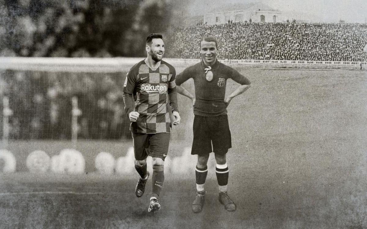 Messi iguala els partits de Samitier a la Copa del Rei