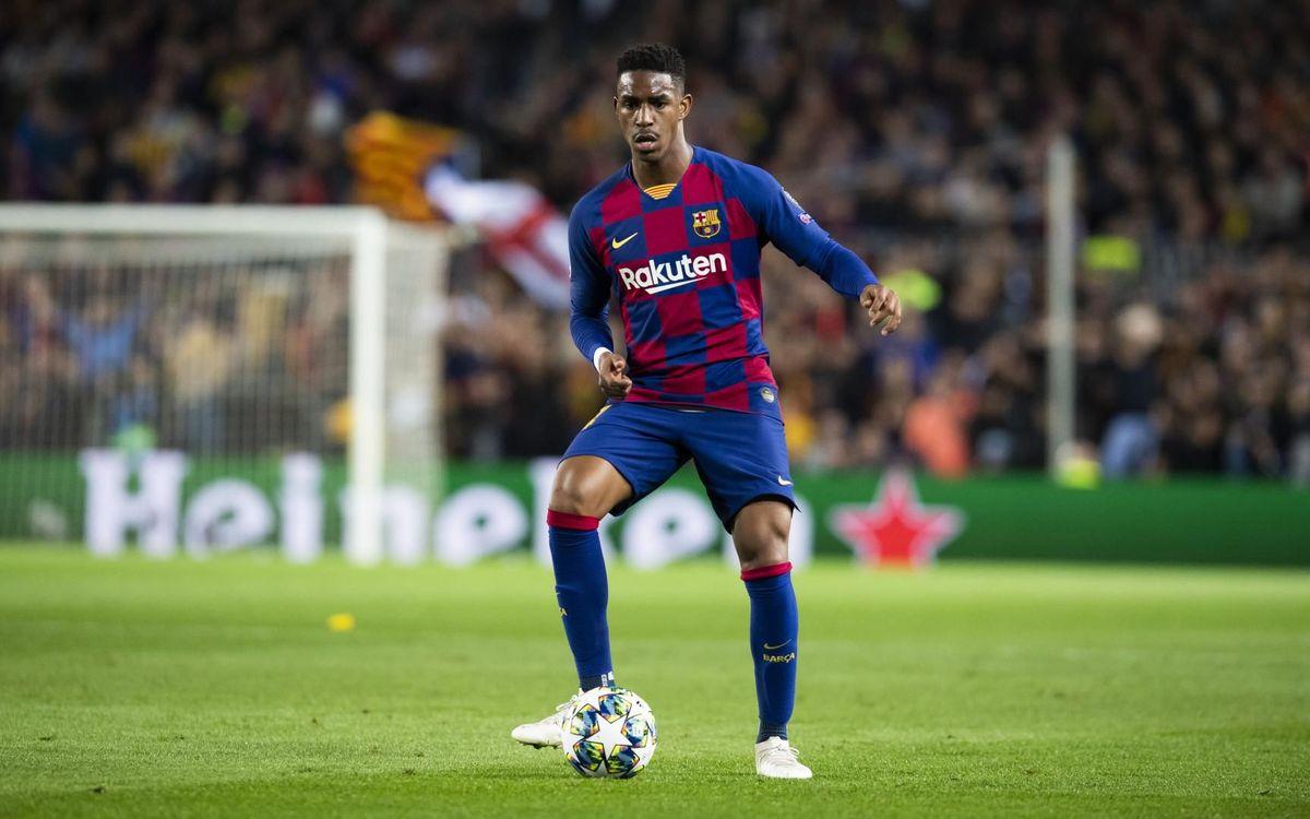 Junior ha participado en 12 partidos como azulgrana y ha firmado un gol, contra el Getafe