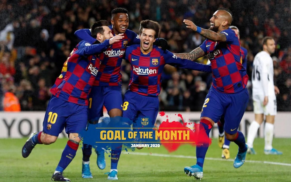 Messi's goal against Granada: January Goal of the Month