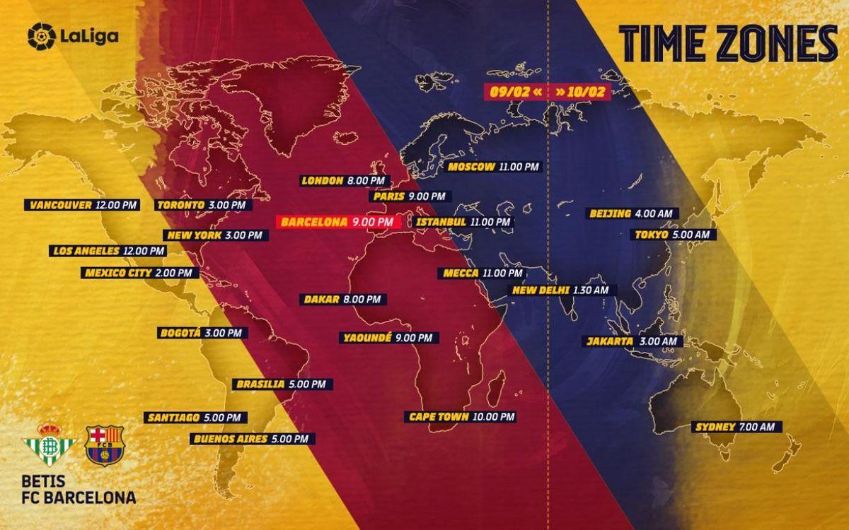 Les horaires de la rencontre entre le Betis et le Barça