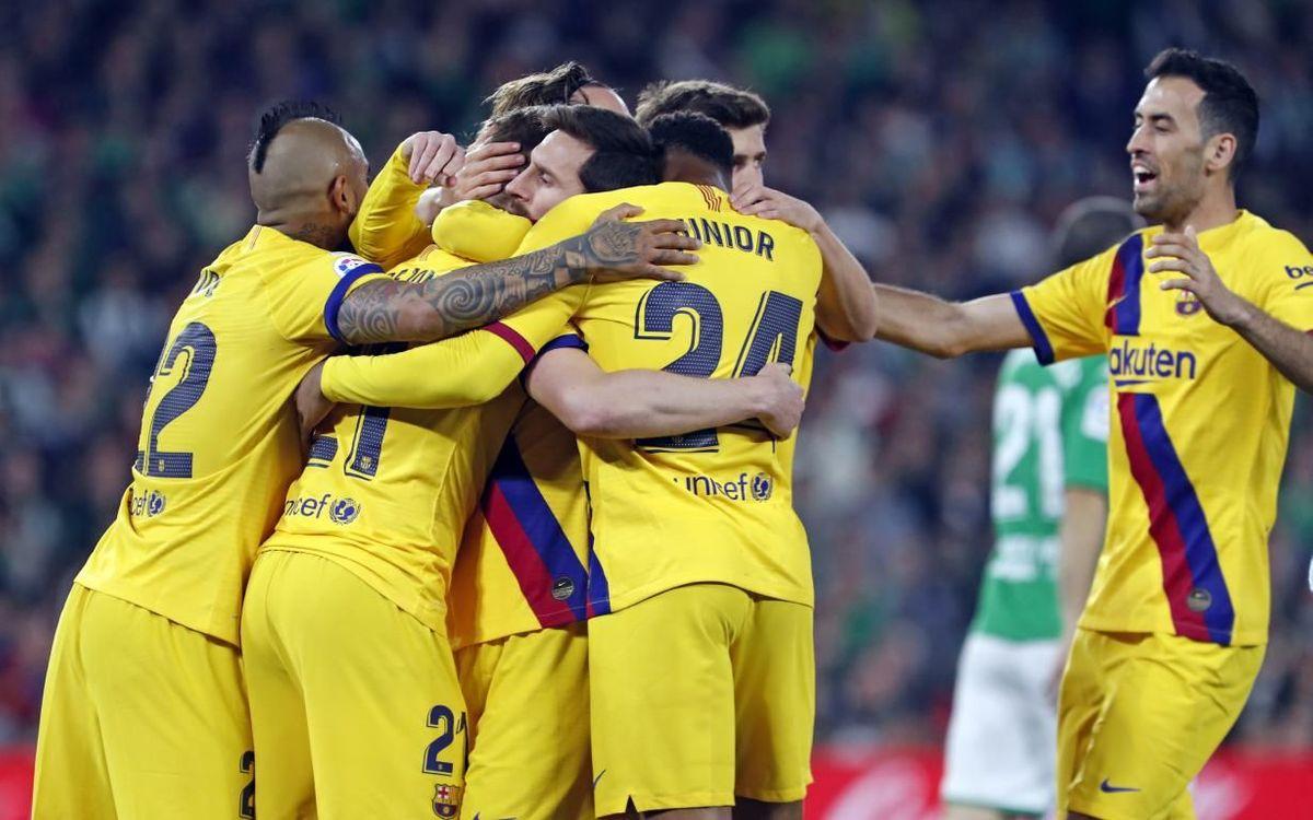 Betis - Barça: Una remontada con personalidad (2-3)