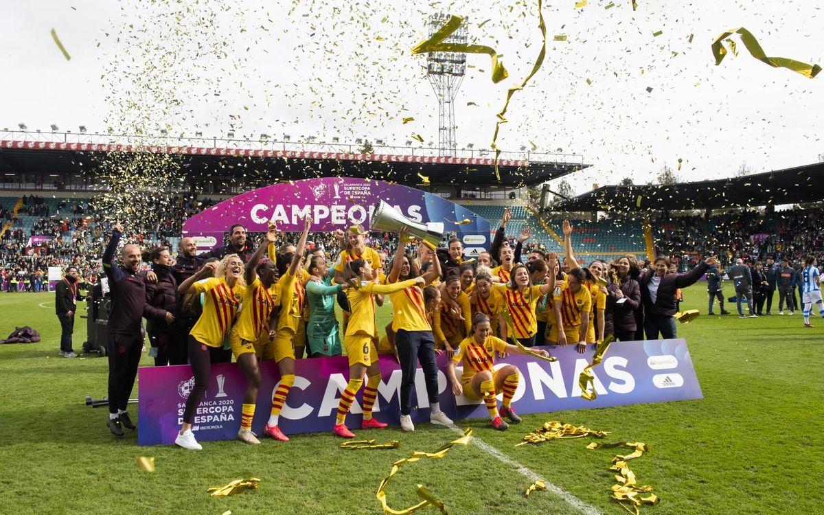Con la primera Supercopa, el Barça ya es el más laureado