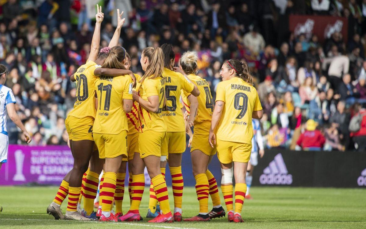 Real Sociedad 1-10 Barça Women: Super Cup Champions!