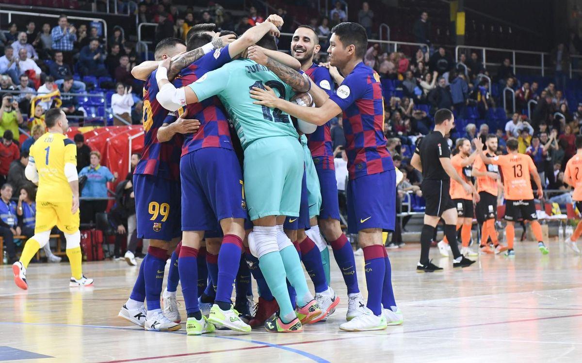 Barça-Burela: Clasificados para la Final Four de la Copa del Rey (3-3, 3-2)