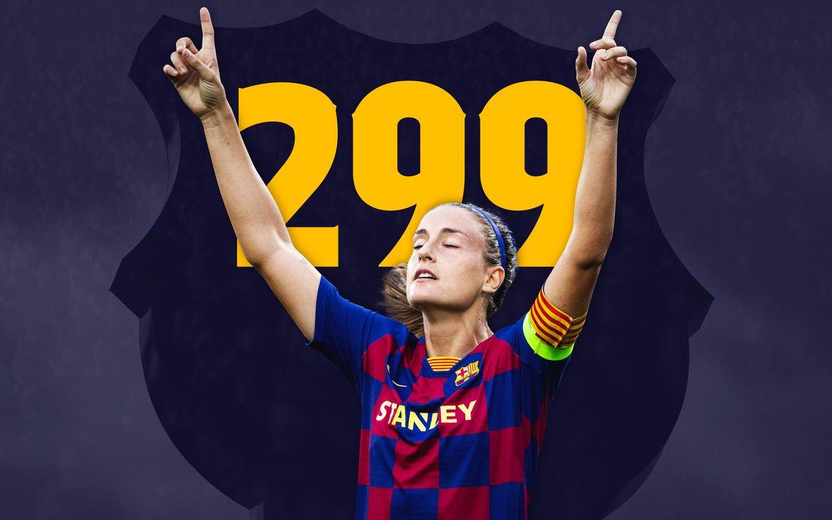 Alexia, a punto para su partido 300 con el Barça