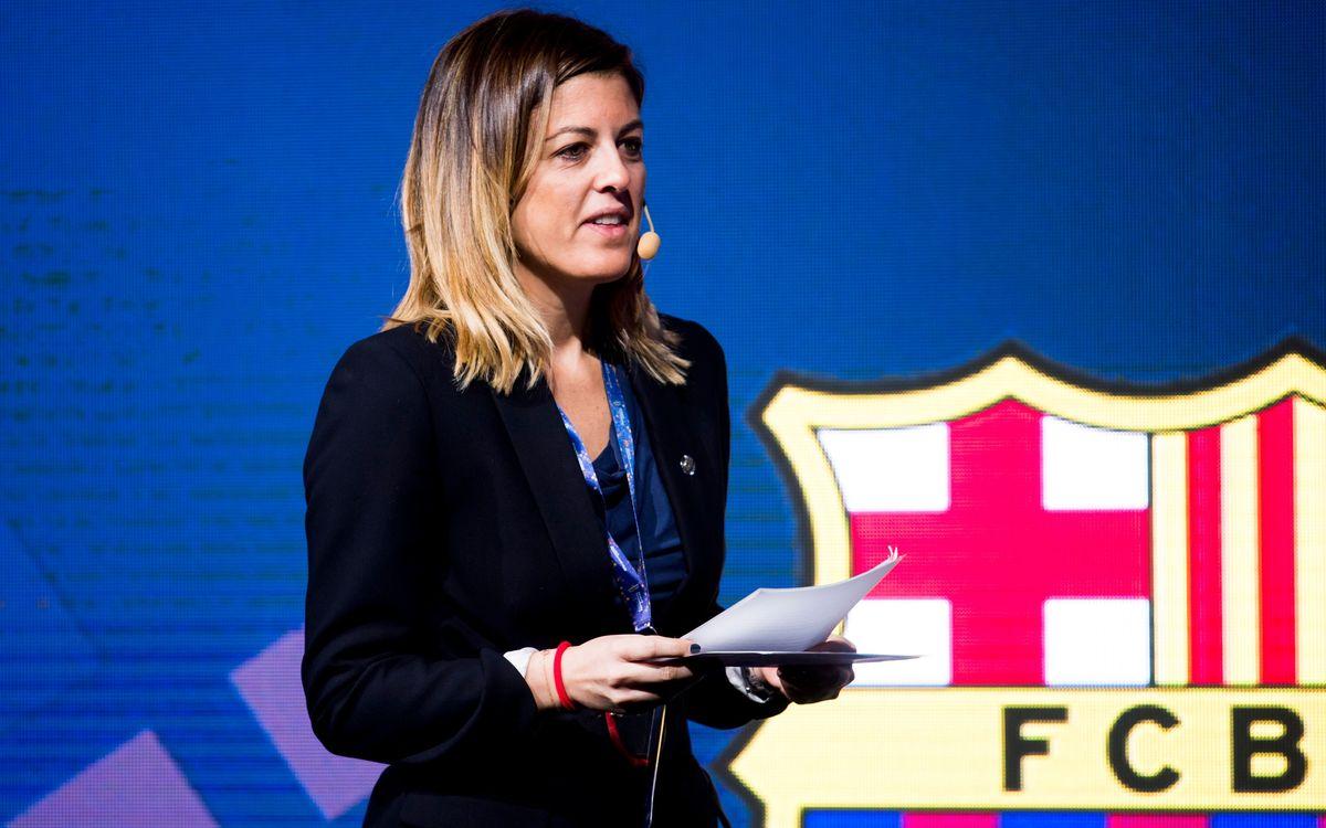 Marta Plana explica el Barça Innovation Hub a Israel