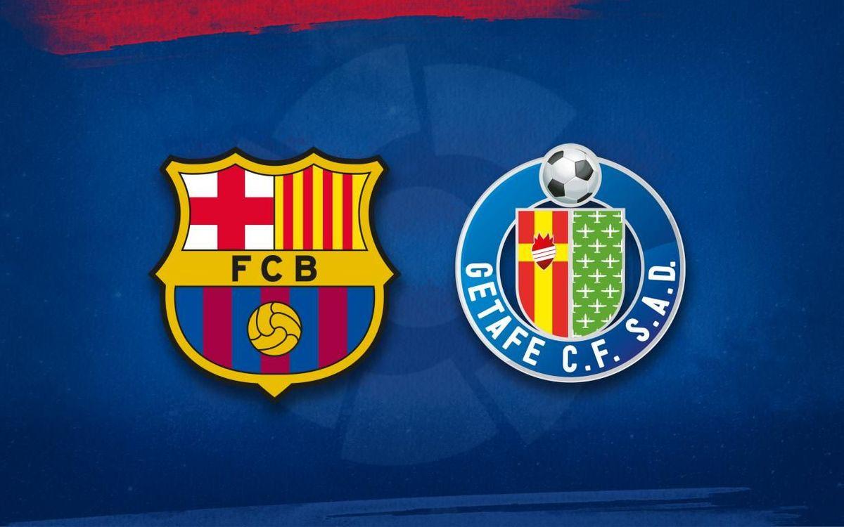 FC Barcelona lineup for Getafe game