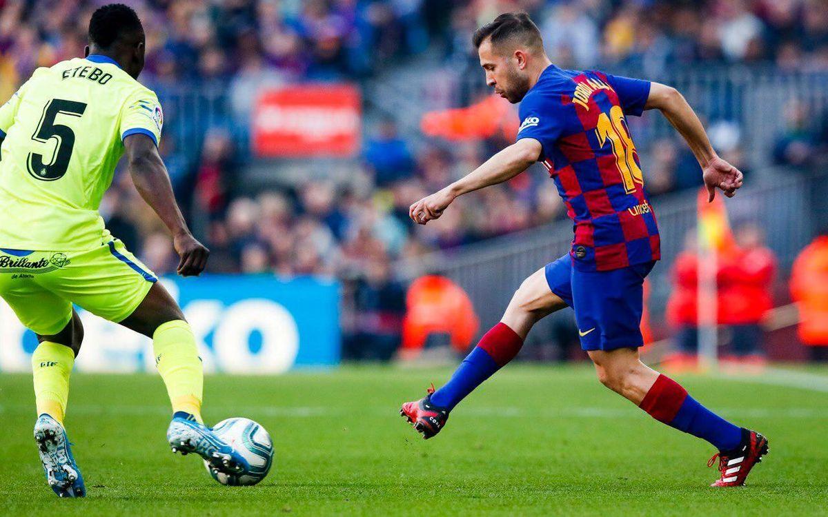 Jordi Alba, amb una lesió a l'adductor de la cama dreta