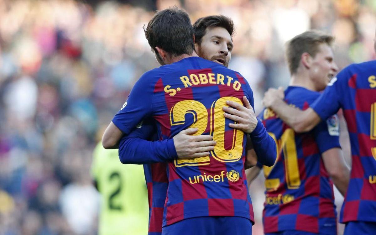 Las cinco datos que nos deja el Barça - Getafe