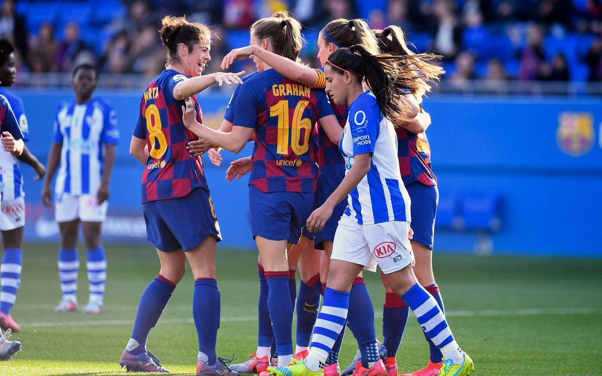 Barça-Sporting Huelva: La fiesta del líder (7-0)