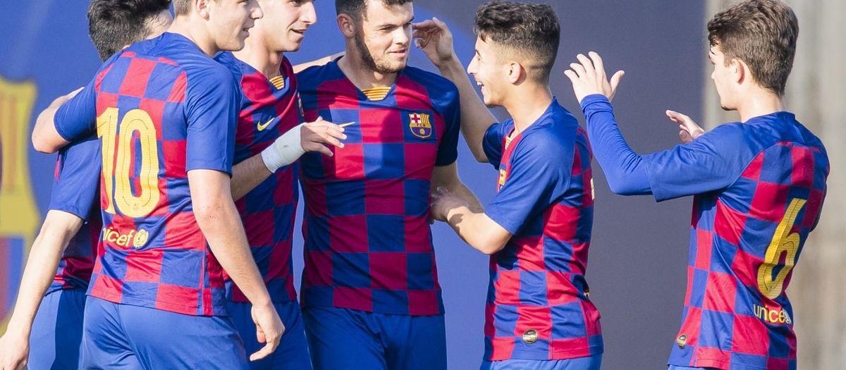 Juvenil A - Huesca: Lluvia de goles azulgrana (9-0)