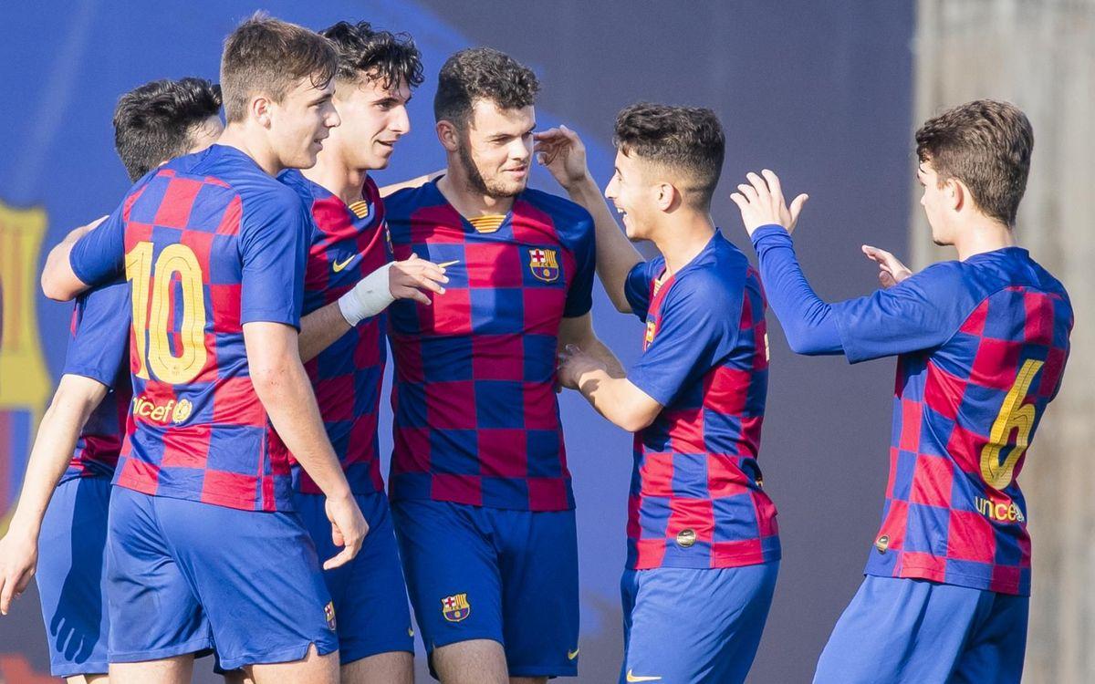 Juvenil A - Osca: Pluja de gols blaugrana (9-0)