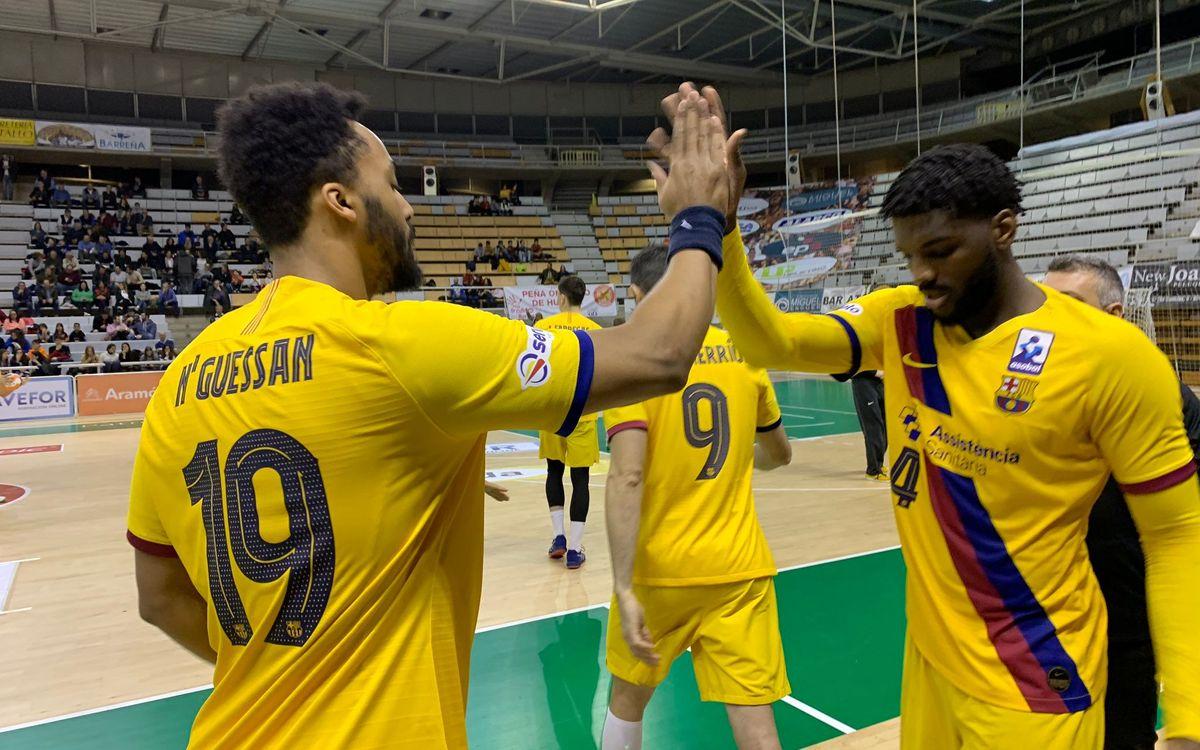 Bada Huesca - Barça: Victoria sin brillo ante el colista (26-32)