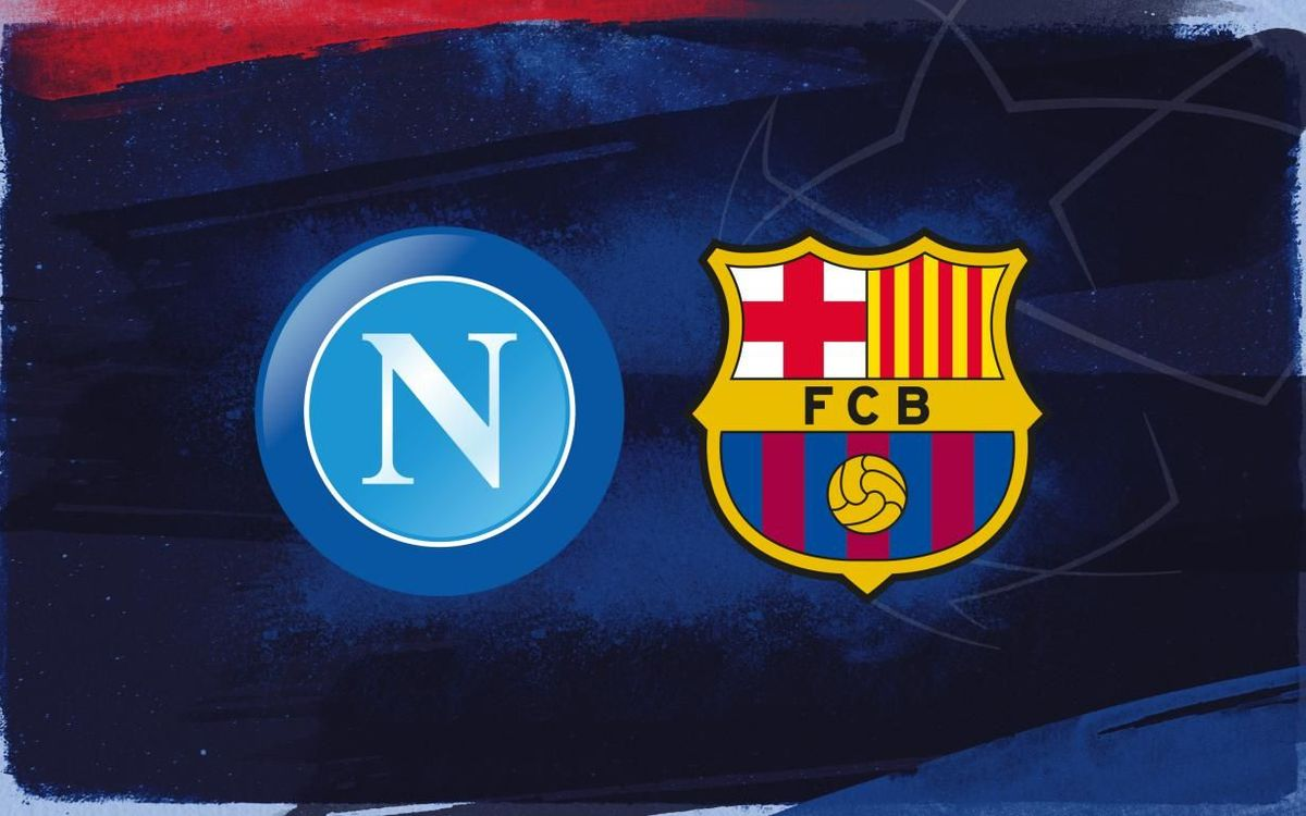 FC Barcelona lineup for the Napoli game