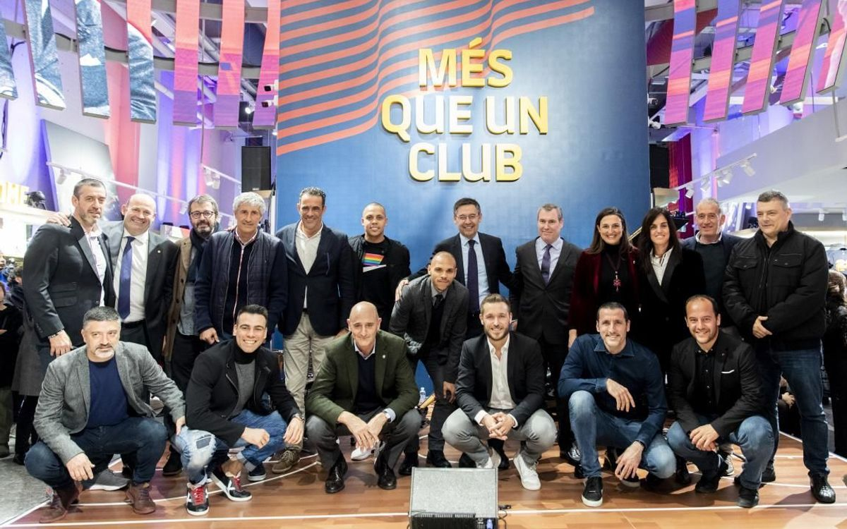 FC Barcelona holds presentation of 'Barça Store de Canaletes' in the heart of la Rambla
