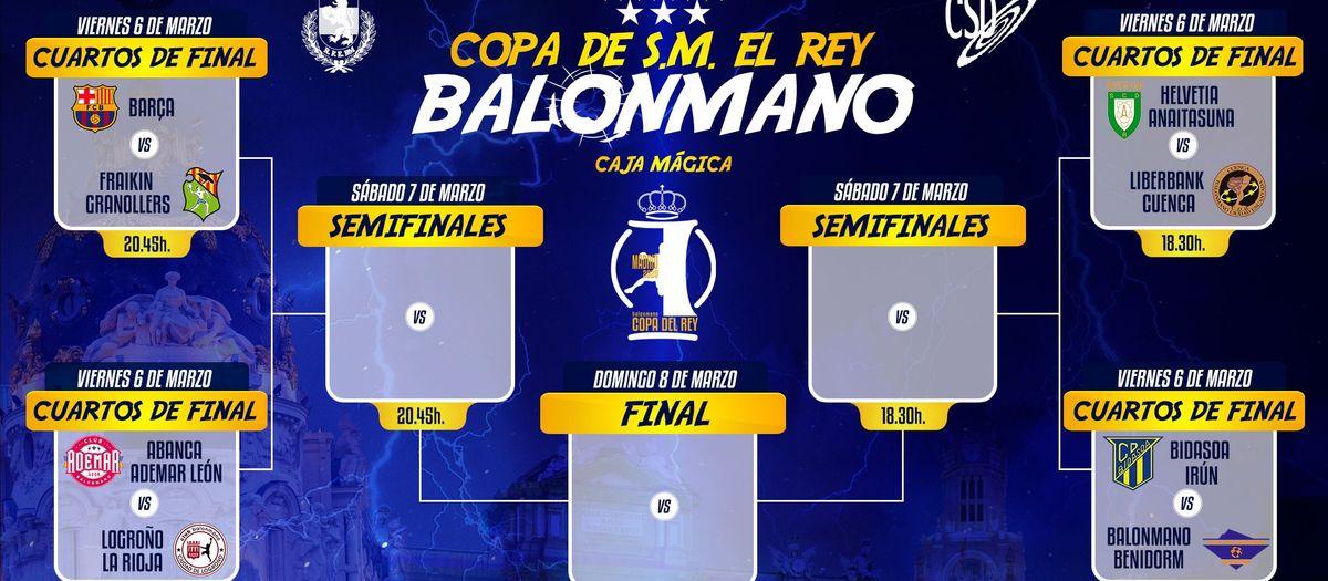 Definidos los horarios de la Copa del Rey