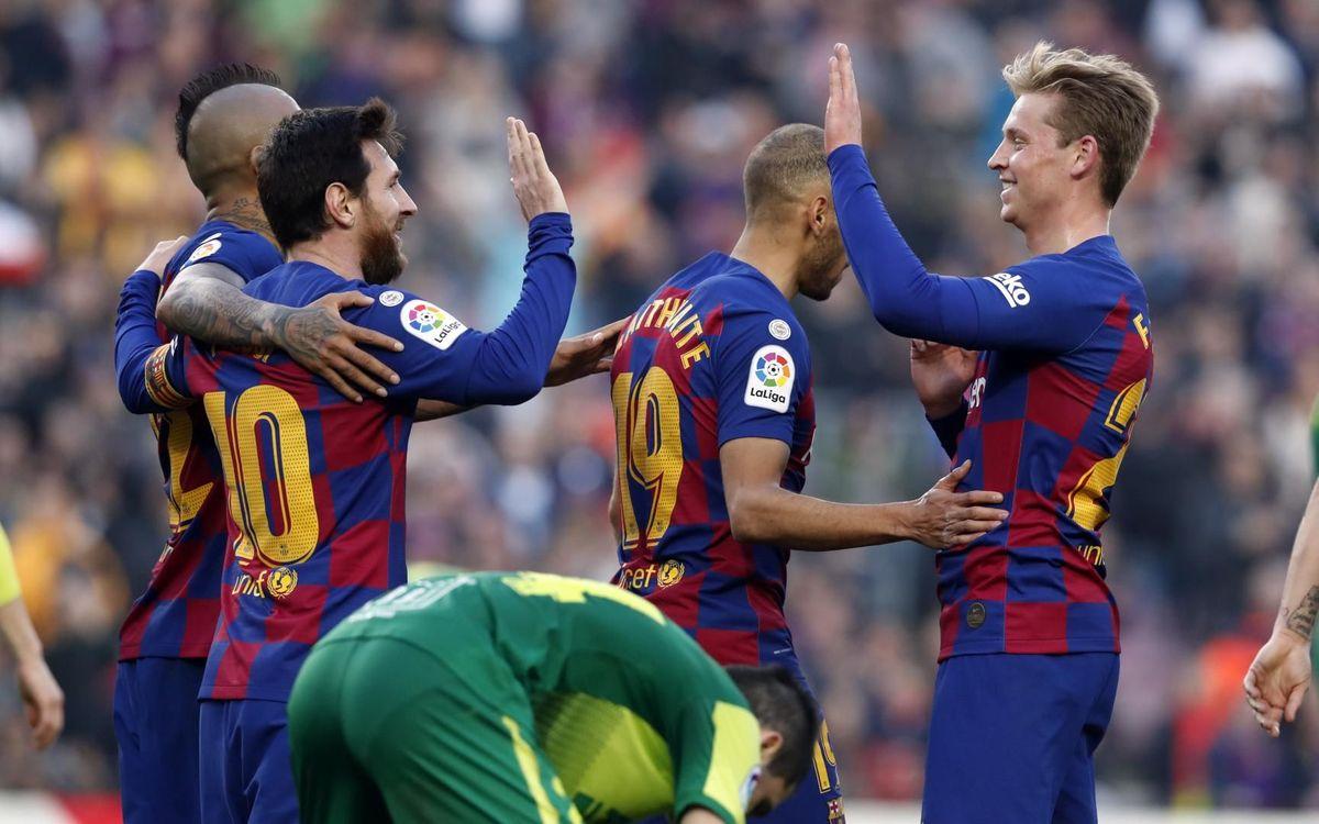 El Barça llegará líder al Clásico