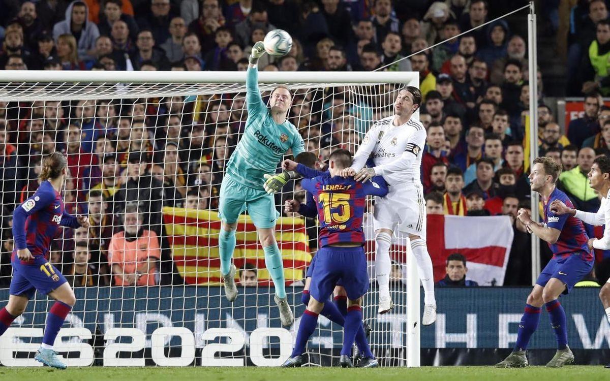 Ter Stegen s'impose dans les airs devant Sergio Ramos