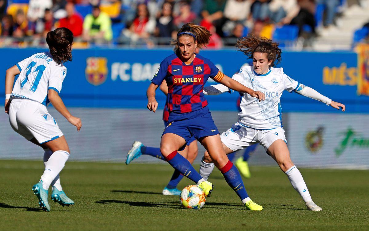 FC Barcelona Femenino - Deportivo Abanca (previa): Espectáculo servido a cara o cruz
