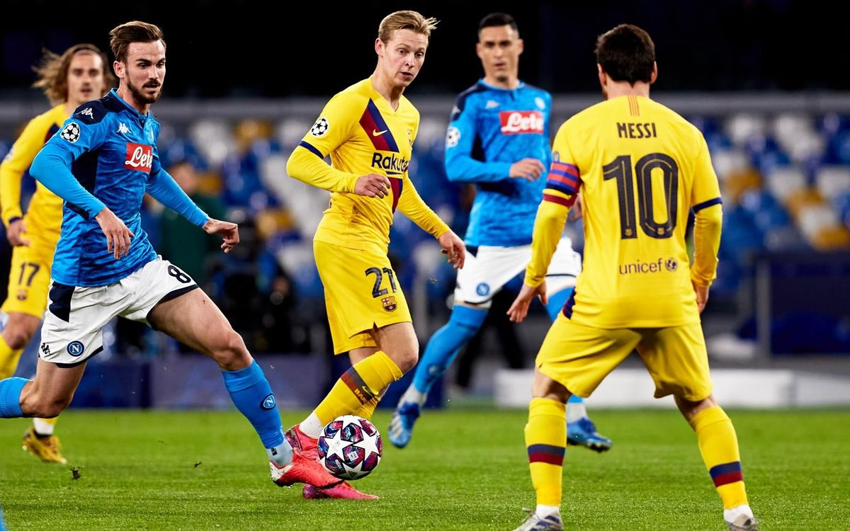 De Jong en action contre Naples au San Paolo