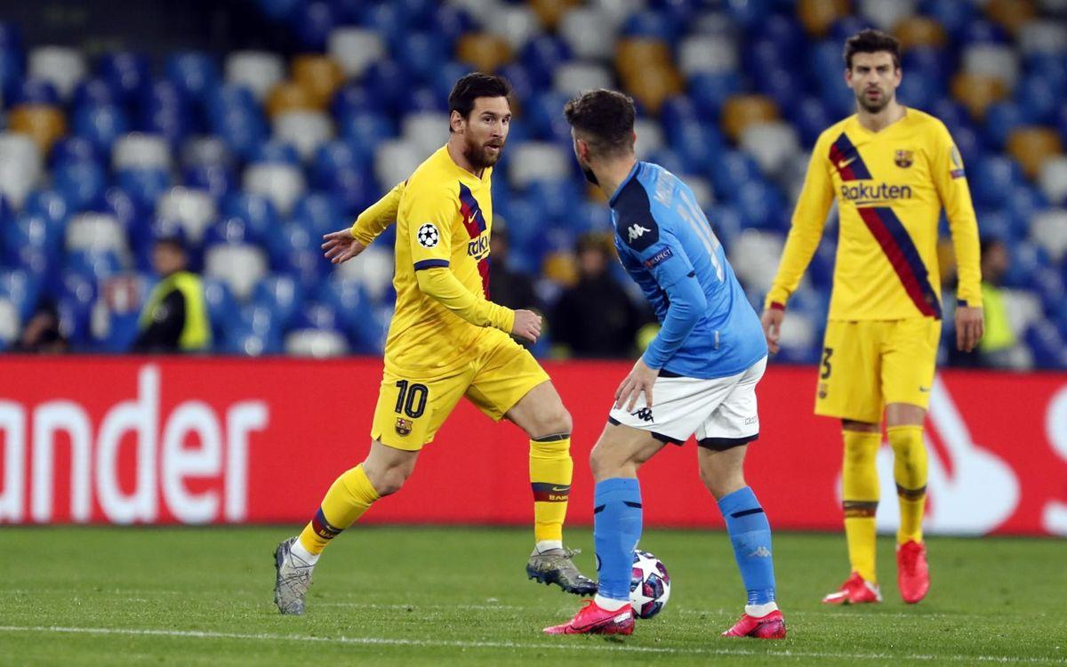 Top stats: Barça v Napoli
