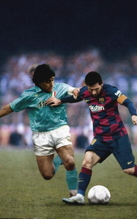 Maradona and Messi.