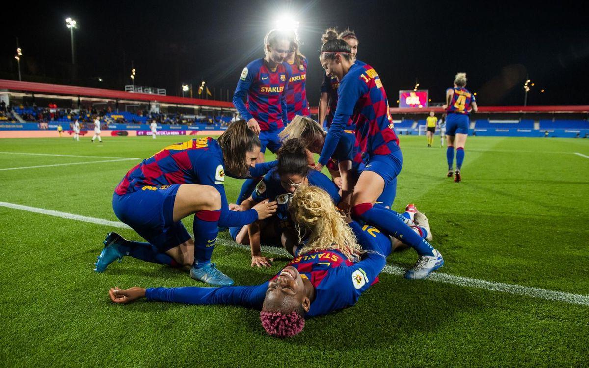 Barça Femenino - Deportivo Abanca: Con esfuerzo y sudor hacia las semifinales de Copa (1-0)