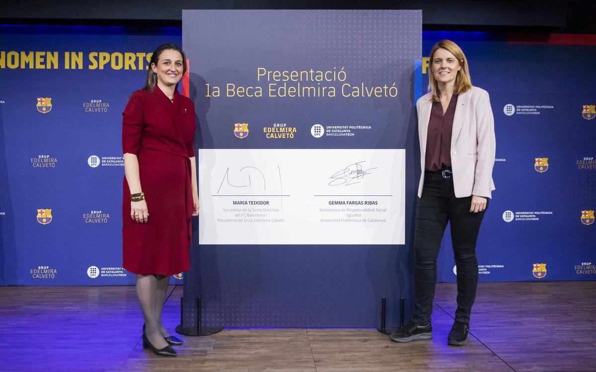 El Barça i la UPC impulsen una beca per promoure l'accés professsional de noies estudiants al món de l'esport i la tecnologia