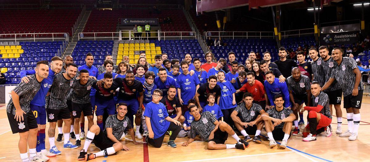 Barça - Corinthians: Gana la solidaridad (4-2)