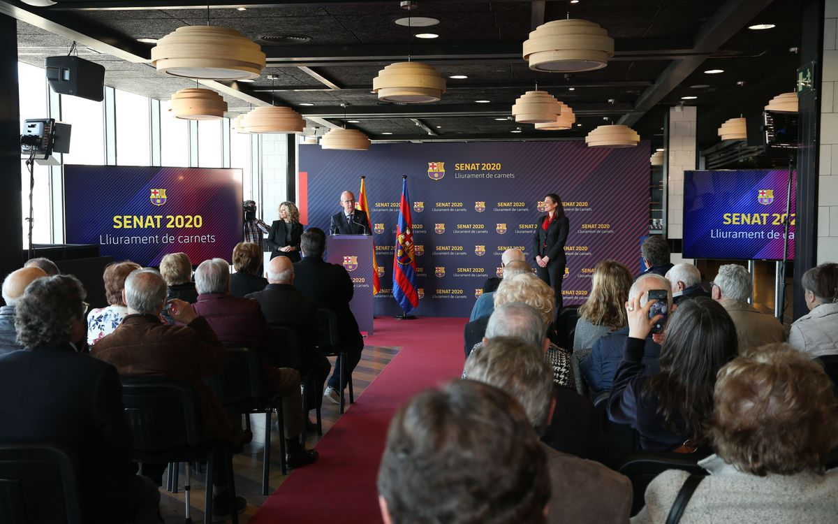Proclamación de nuevos miembros del Senado del Barça