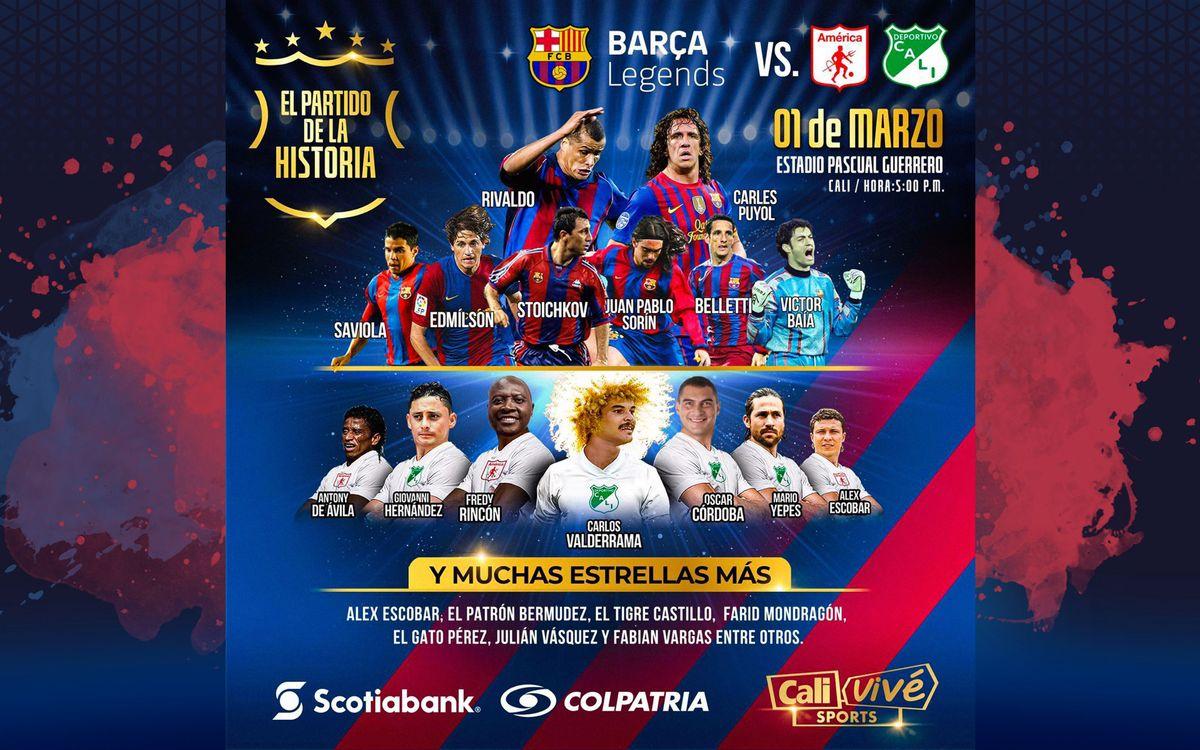 Los Barça Legends, camino de Colombia para disputar sus primeros compromisos de 2020 en Cali y Bogotá
