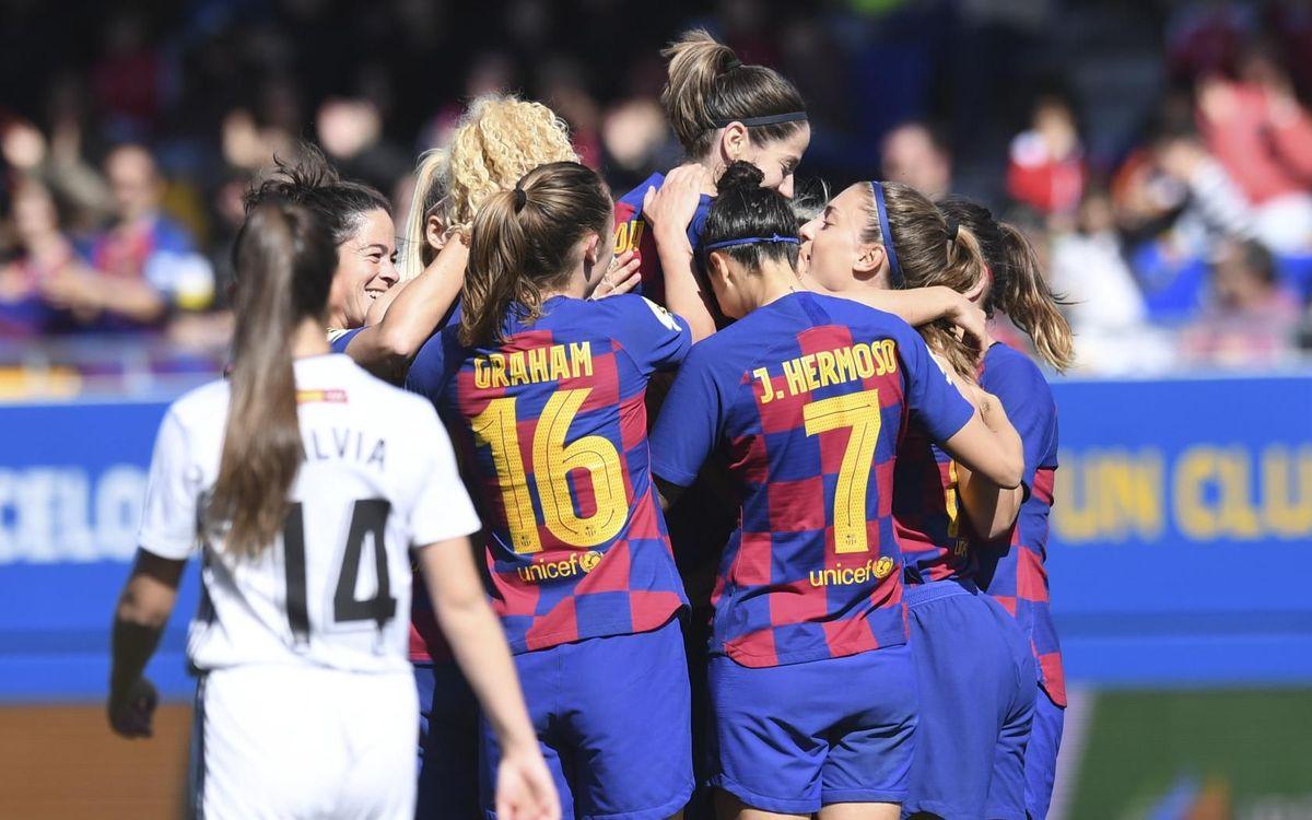 Barça Femenino - Madrid CFF: Sigue la imbatibilidad en el Johan Cruyff (5-0)
