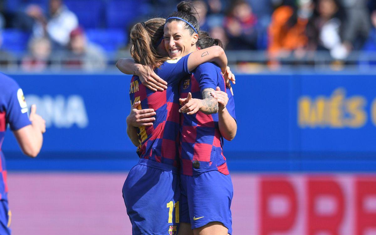 Jenni Hermoso marca su gol 100 en la Liga con el Barça