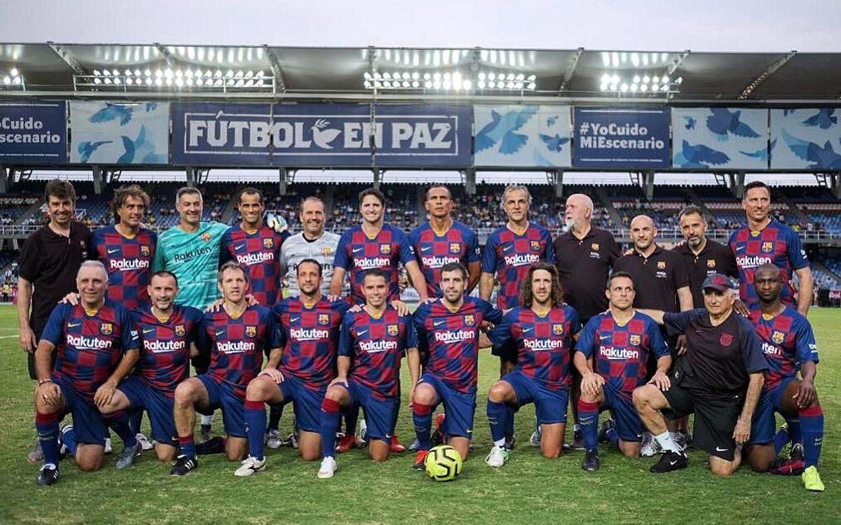 Golejada dels Barça Legends a Cali (4-0)